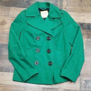 Old Navy Green Pea Coat Sz Sm